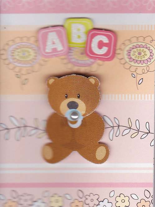 ABC Baby Girl Bear Gift Card 117G-8