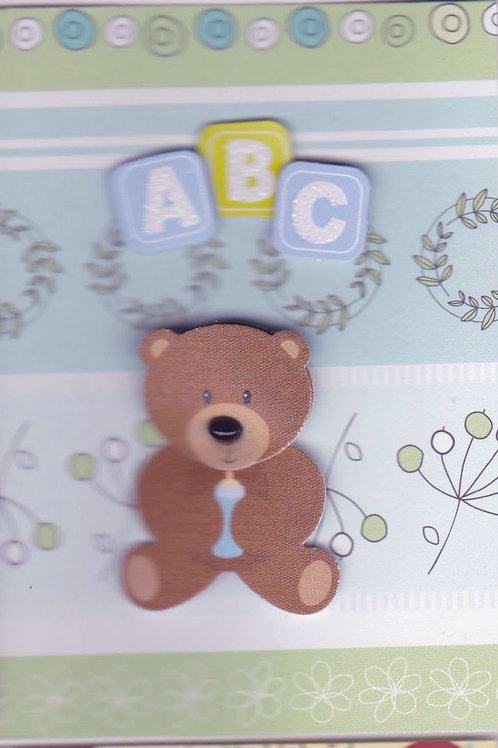ABC Baby Boy Bear Gift Card 117B-8