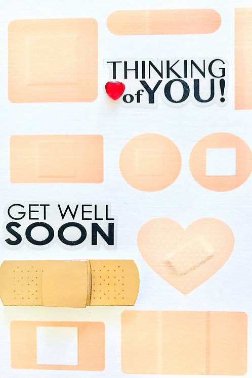 Get Well Bandages Note Cards - NC162