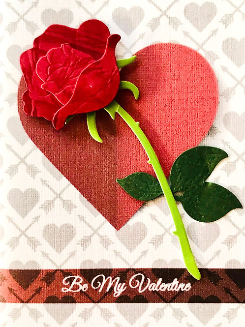 Valentine Rose Gift Card - V104