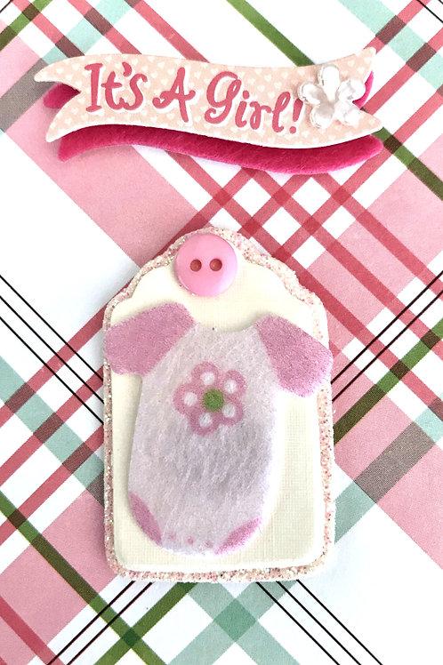 Sweet Baby Girl Onesie Gift Card - 117G/14
