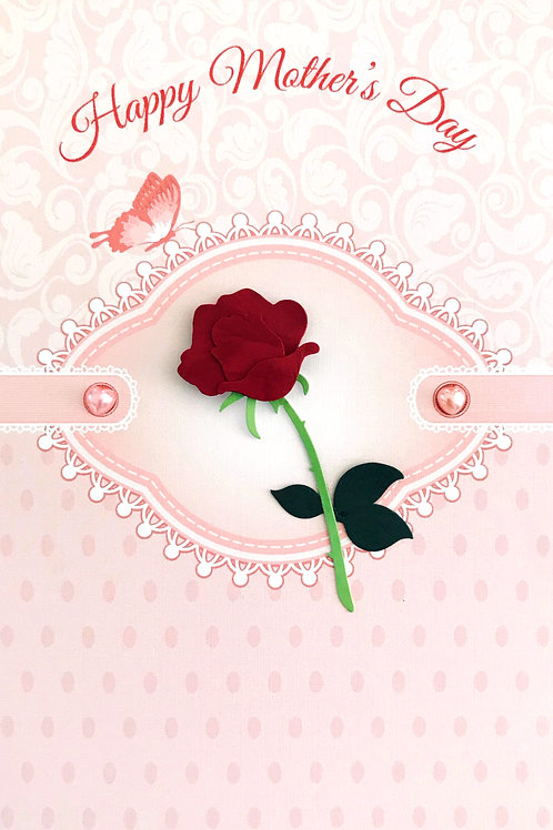 Mother's Day Rose Greeting Card - 1464