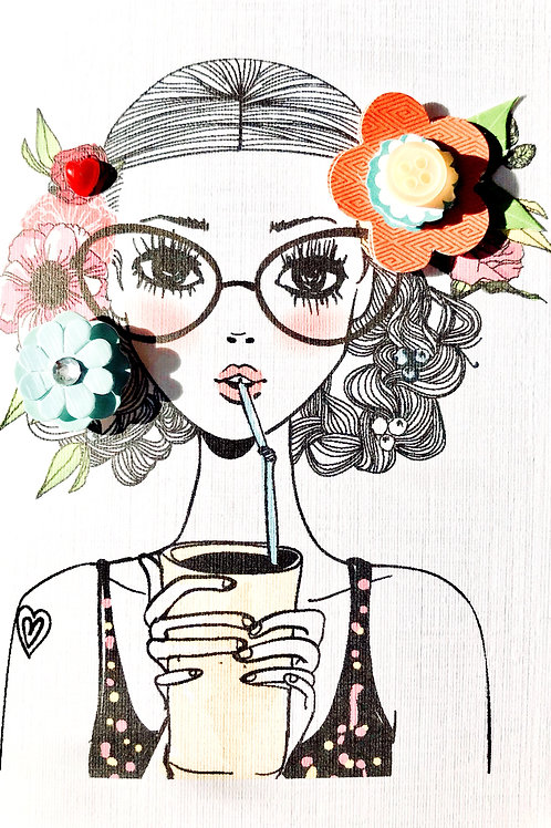 Girl with Glasses Note Cards - NC148