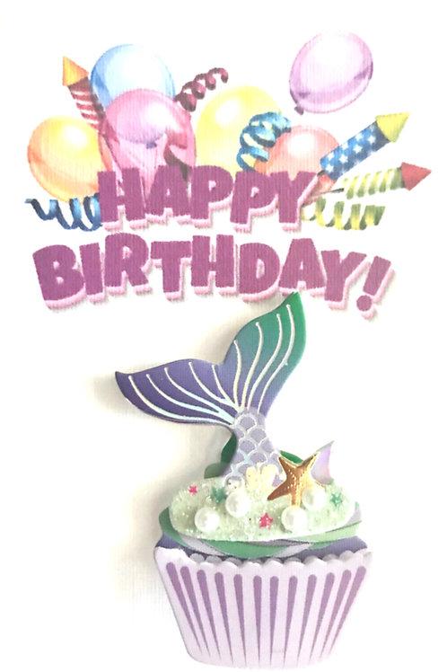 Mermaid Cupcake Gift Card 122A/43A