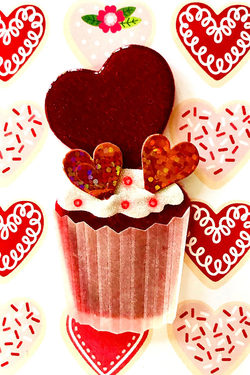 Valentine Cupcake Gift Card - V111