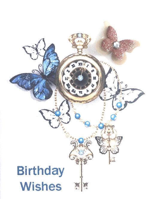 Steampunk Birthday Butterflies Gift Card 155A/3