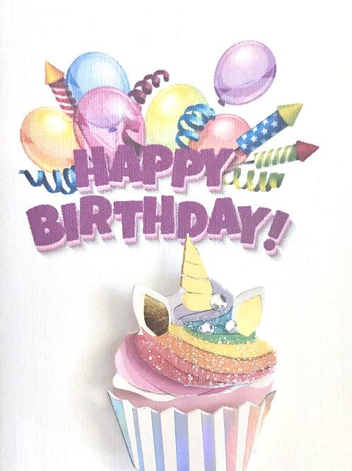 Unicorn Cupcake Gift Card 122A/43B