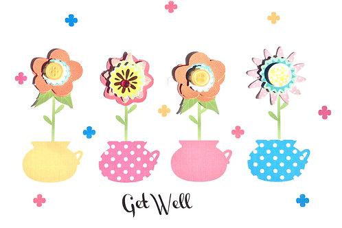 Get Well Flower Pots -1145