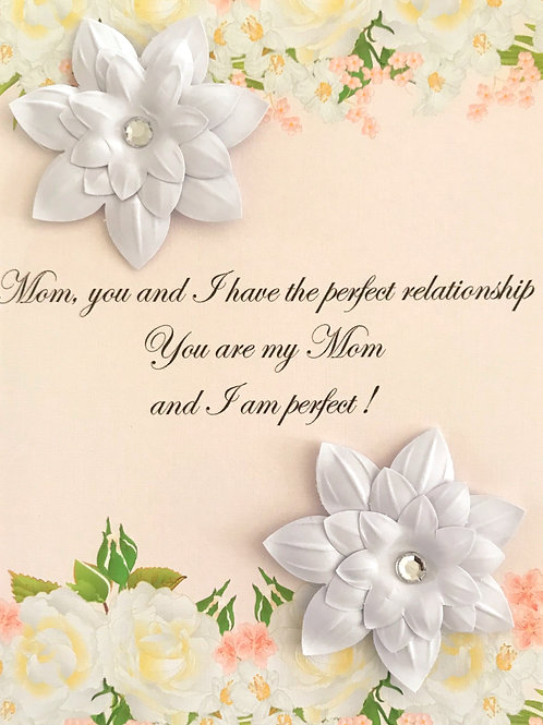 Mother's Day Perfect Relationship Greeting Card - 1462
