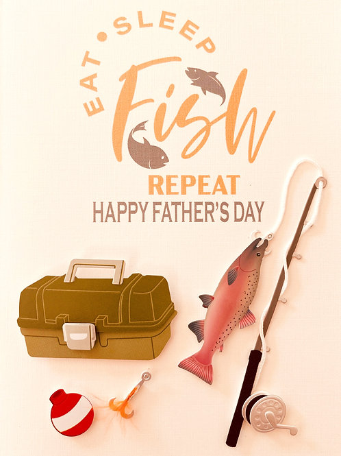 Father's Day Fish & Repeat Greeting Card - 1473