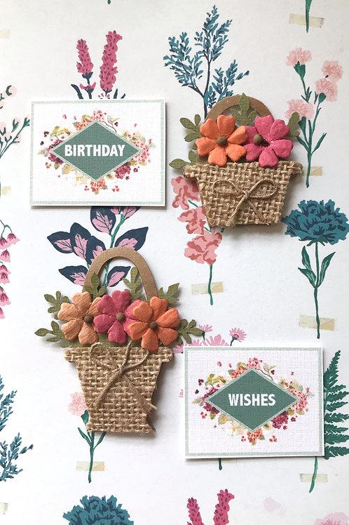 Birthday Floral Baskets - 1309