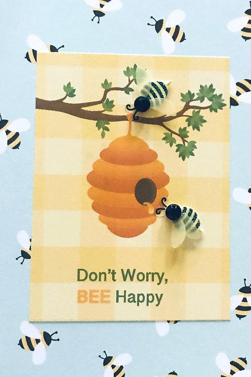 Bee Happy Hive Note Card Set - NC177