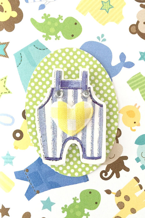 Baby Overalls Note Cards - NC31