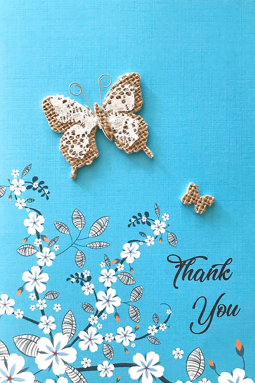 Thank You Lace Butterfly -1394