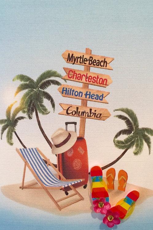 W-NC44 Beach Sign Note Card Set