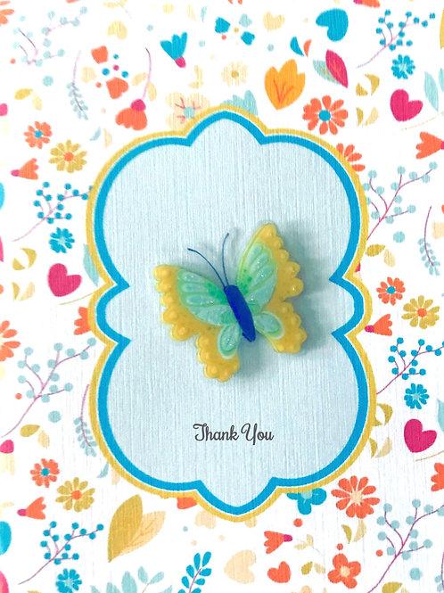 Thank You Butterfly Asst Note Card Set-NC13
