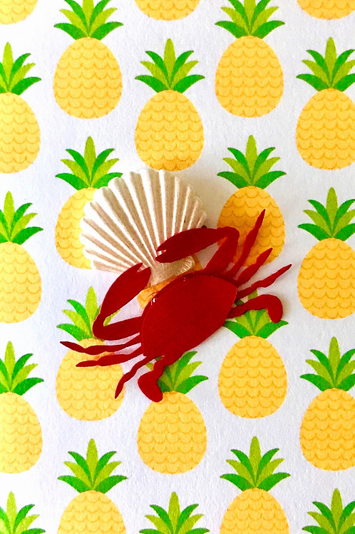 Crab on a Shell Gift Card - 108A/20