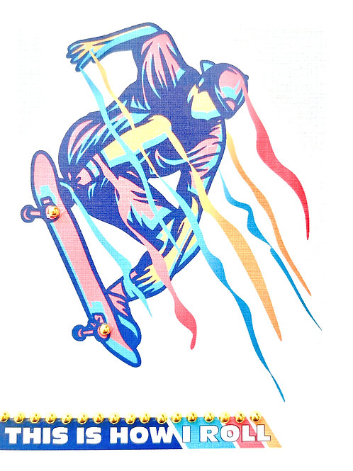 Skateboarding Note Card Set - NC194