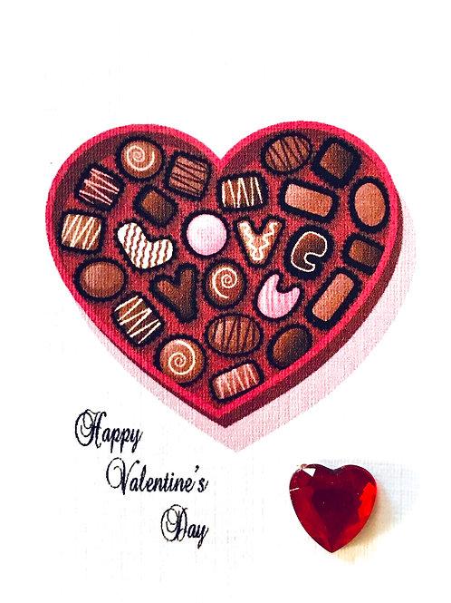 Valentine Love Candy Gift Card - V106