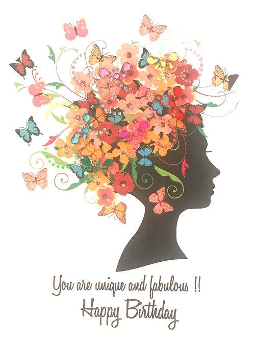 Floral Head Note Card Set-NC98