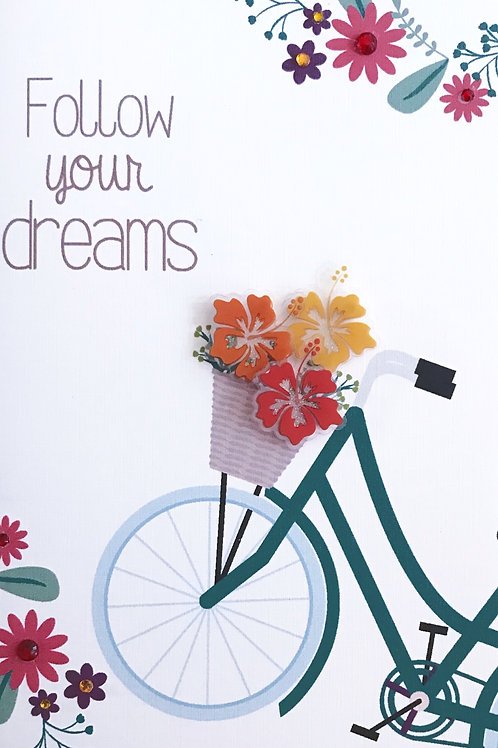 Blank Follow Your Dreams Greeting Card - 1389