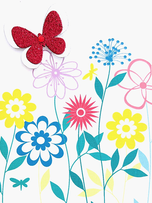 Glitter Butterfly Note Card Set - NC182