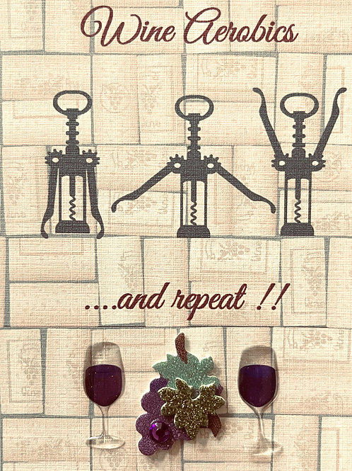 Wine Aerobics Note Cards - NC154