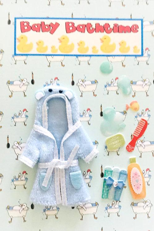 Baby Bathtime Greeting Card - 1477
