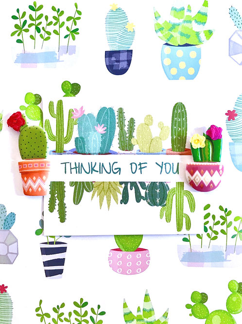 Thinking of You Catcus Note Cards - NC132