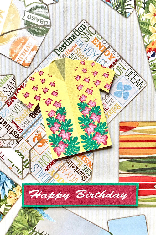 Birthday Tropical Shirt Note Cards - NC118