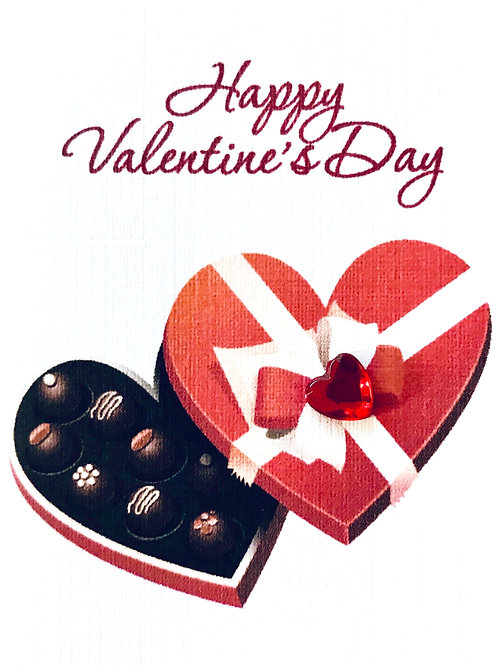 Valentine Heart Candy Gift Card - V100