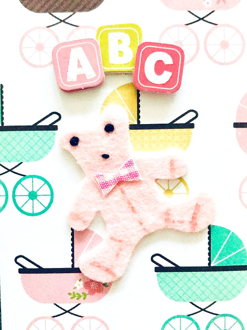 Baby Girl Teddy Gift Card - 117G/2