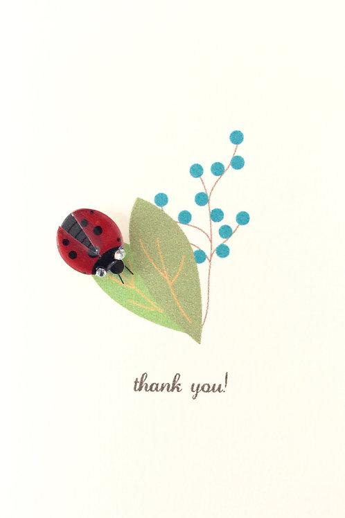 W-NC10 Thank You Lady Bug Note Card Set