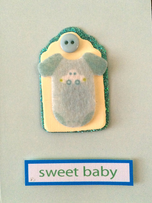 Sweet Baby Boy Onesie Gift Card 117B-14