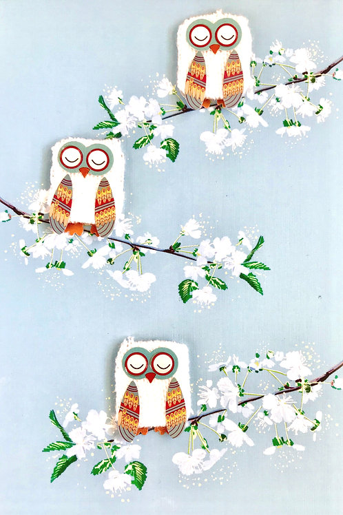 Owls in a Tree -1344