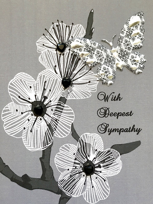 Sympathy Branch with Butterfly - 1182