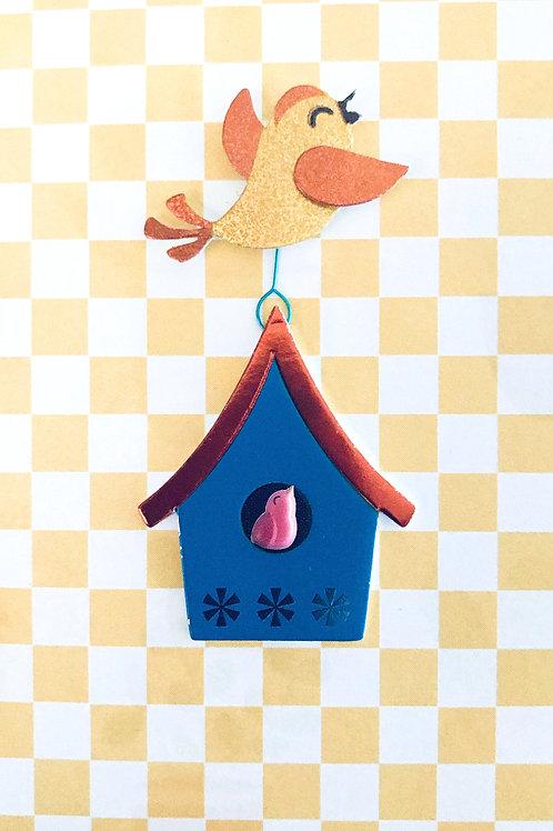 Birds with Birdhouse Gift Card - 143A/31