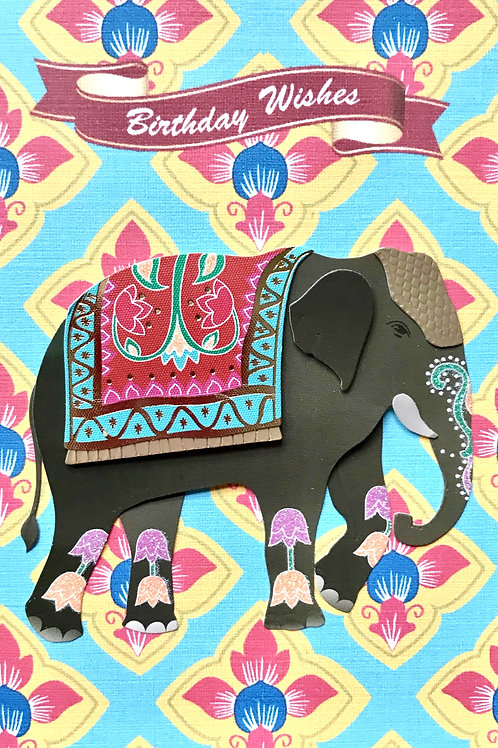 Birthday Elephant Note Cards - NC119