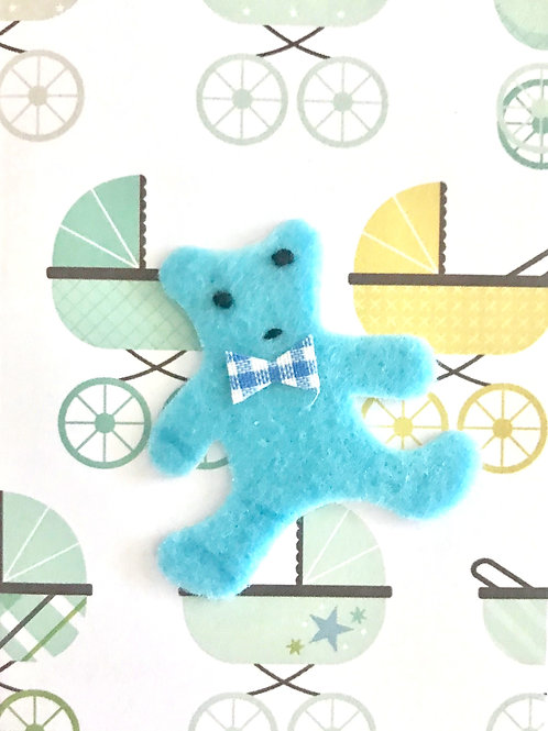 Baby Boy Bear Gift Card 117B/2
