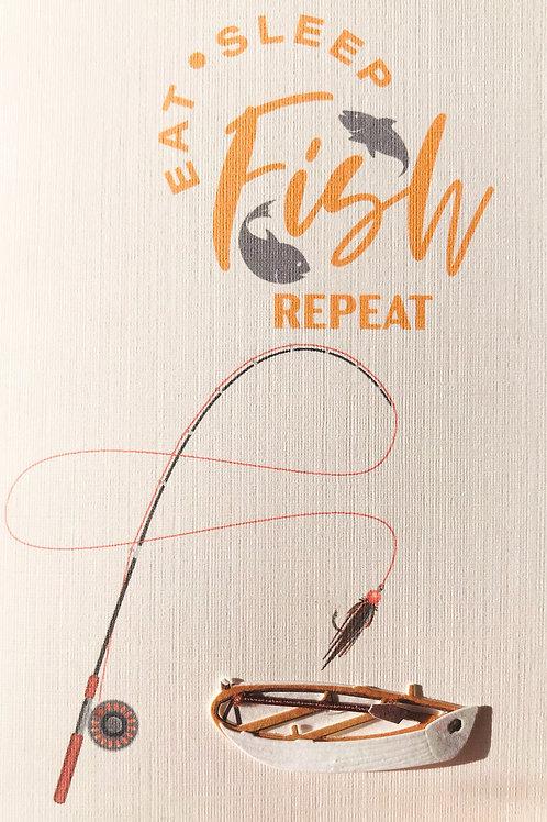 Eat Fish Repeat Note Card Set - NC136