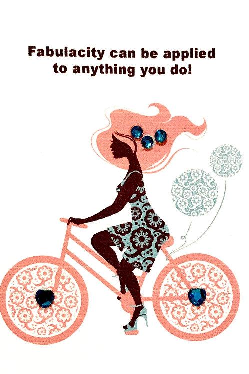 Woman on Bike Note Card Set-NC102