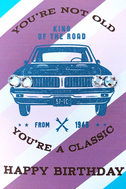 Birthday Classic CAr Note Cards - NC161