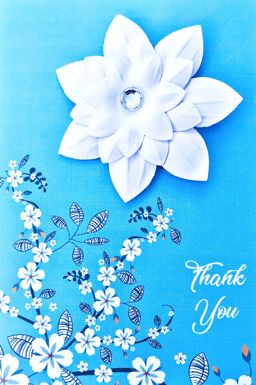 Thank You Floral Note Cards - NC123