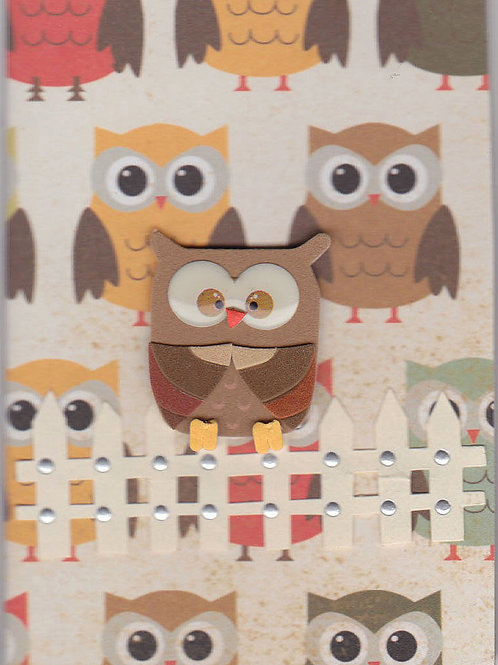 Owl on the Fence Gift Card 143A/8