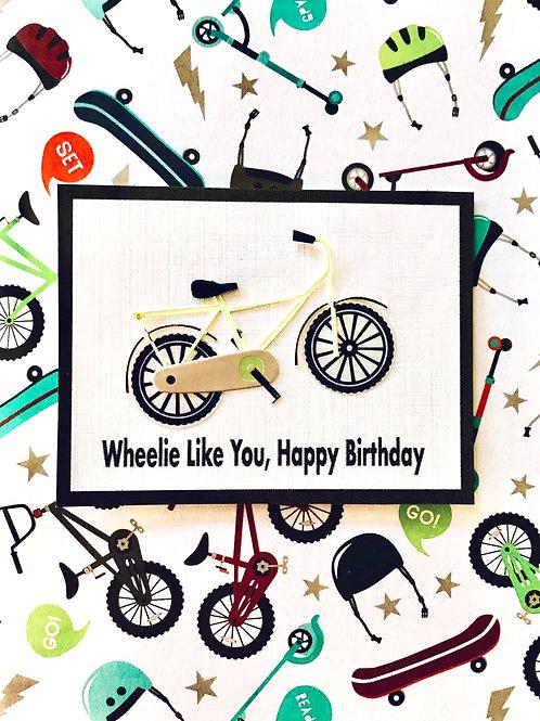 Birthday Wheelie Greeting Card - 1451