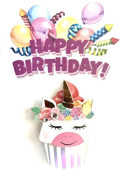 Unicorn Cupcake Gift Card - 122A/43C