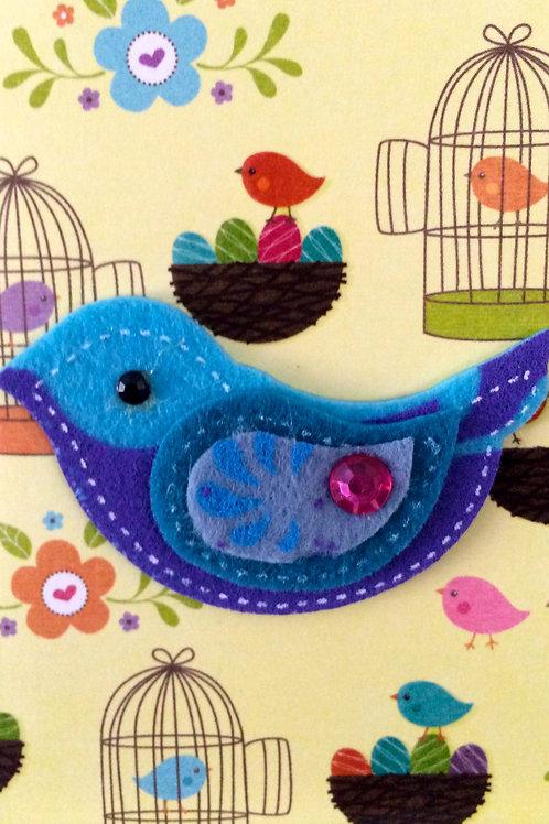 Felt Bird Gift Card - 143A/25
