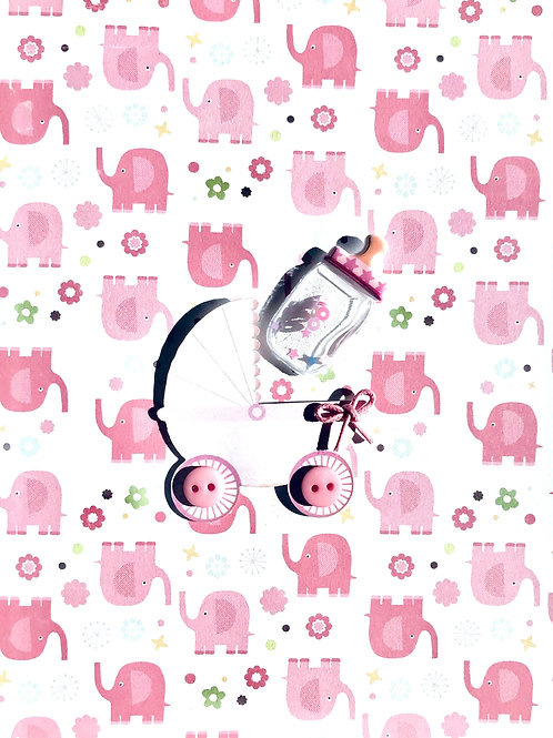 Baby Girl Carriage - 1430