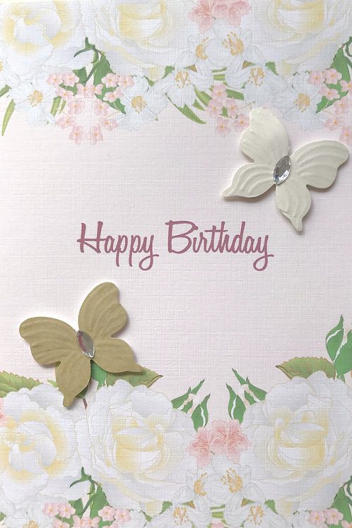 Birthday Border with Butterflies - 1321
