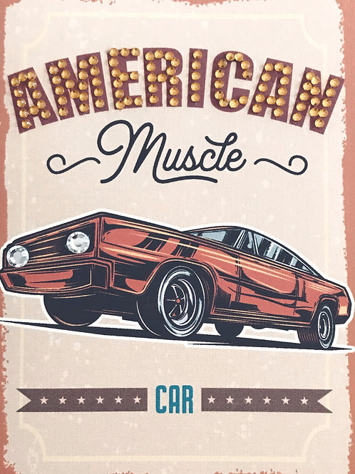 Blank American Muscle Greeting Card -1390